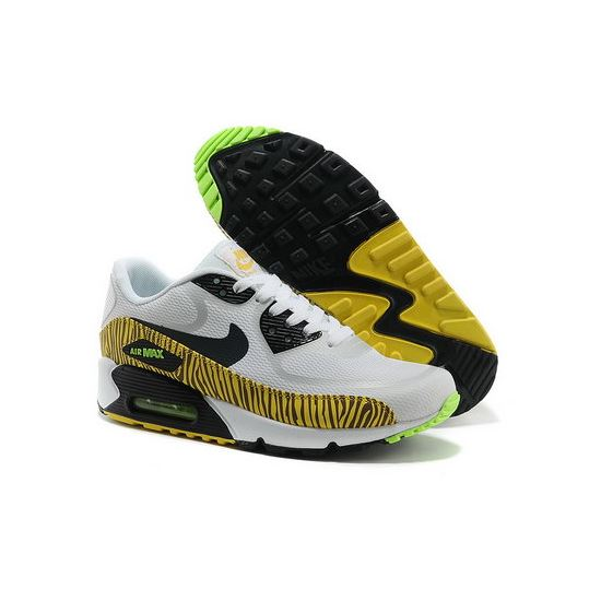 c35de51a912 Nike Air Max 90 Prem Tape Unisex White Yellow Running Shoes Portugal ...