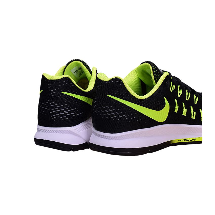 separation shoes 29b81 3a90f Men s Nike Air Zoom Pegasus 33 Running Shoes Black Fluorescent Green