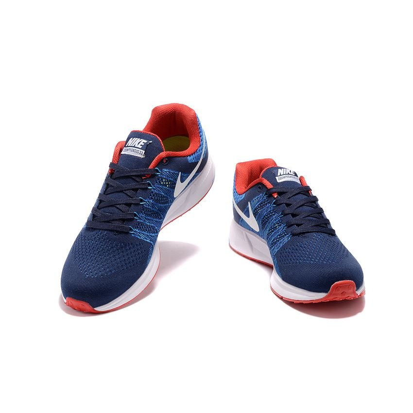 3b7eb9fe157a Men s Nike Air Zoom Pegasus 33 Running Shoes Dark Blue Red White ...