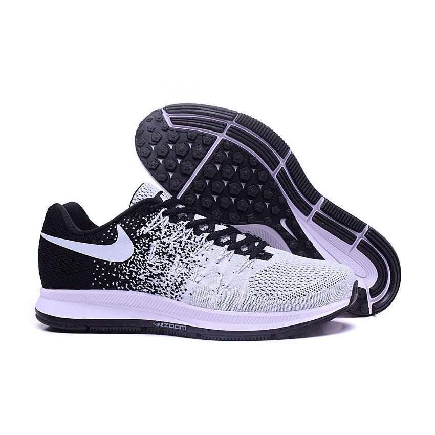 6846e615b33 Men s Nike Air Zoom Pegasus 33 Running Shoes Black White