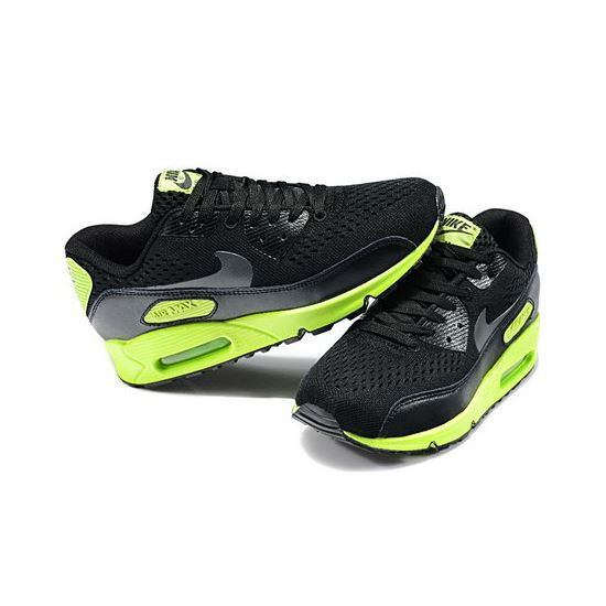 finest selection 1ce0d f6ddc Nike Air Max 90 Em Womens Black Dark Grey Flash Lime New Zealand