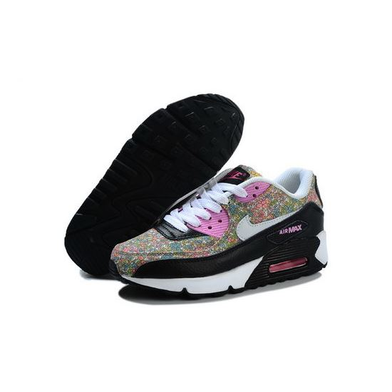627972c7e09 Nike Air Max 90 Flowers Women Pink White Running Shoes Best Price ...