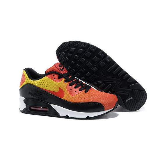 b15cbe8141 Nike Air Max 90 Premium Em Unisex Orange Black Running Shoes Outlet Online