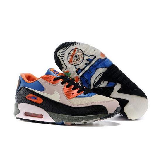 low cost cd225 c1f6f Nike Air Max 90 Premium Mowabb King Of The Mountain Womens Shoes Gray Black  Orange Taiwan