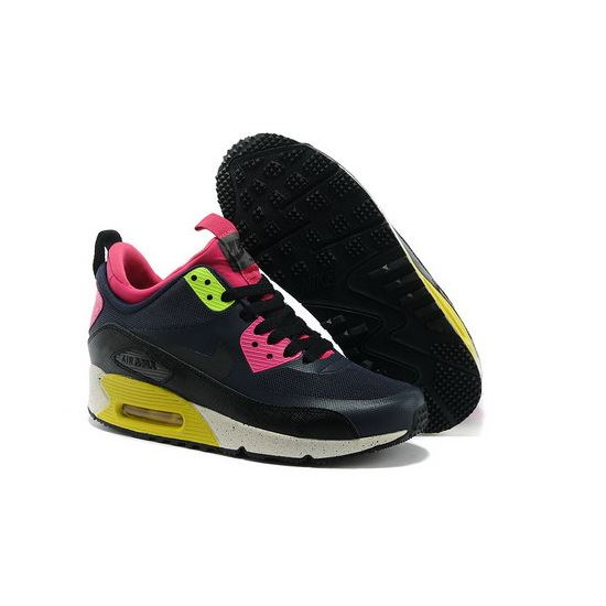 reputable site d0226 3a4b0 Nike Air Max 90 Sneakerboot Ns Women Black Pink Running Sports Shoes Spain