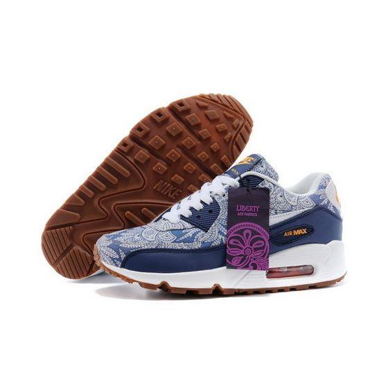 cheap for discount ffbb2 cf519 Nike Air Max 90 Womens Shoes China Blue White Korea