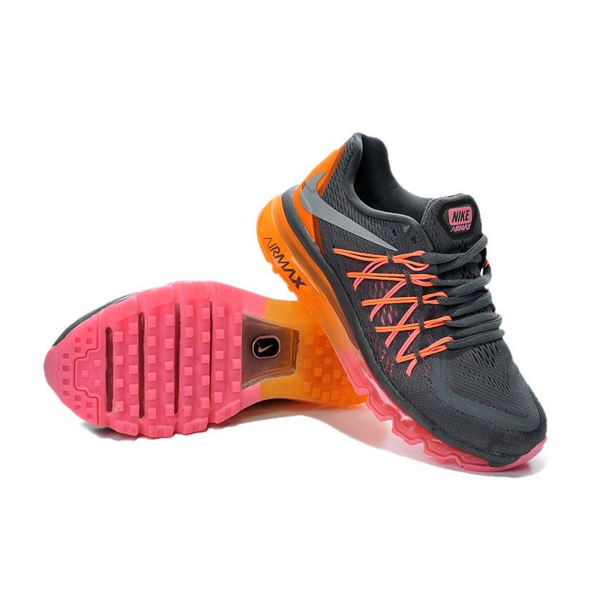 half off 8fb4c fb9f3 Air Max 2015 Women Deep Grey Orange Pink
