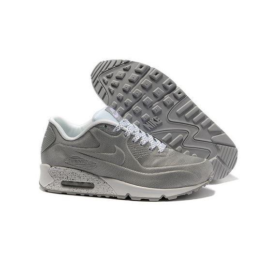 9c35dd7f80 Nike Air Max 90 Hyp Prm Men Gray White Running Shoes Discount Code ...
