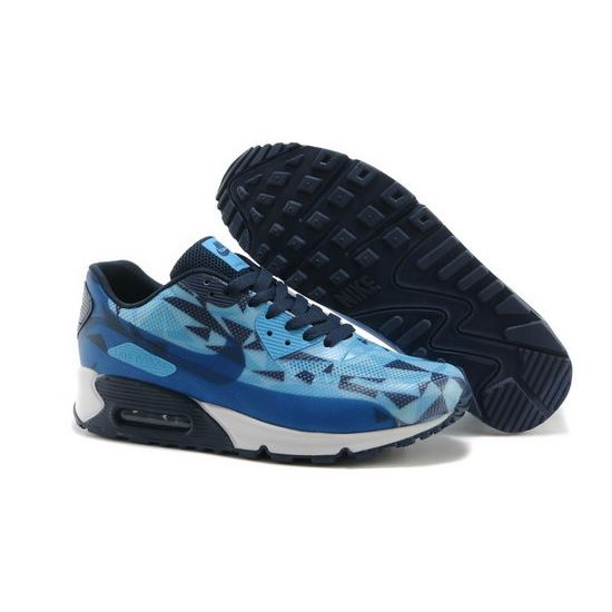 sports shoes a6fba 7ee56 Nike Air Max 90 Hyperfuse Prm 2014 25 Anniversary Mens Shoes Deep Blue  Discount Code
