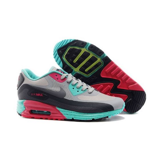 quality design dd06b bcb98 Nike Air Max 90 Lunar 3.0 Mens Shoes Light Gray Black Green Red Special  Coupon