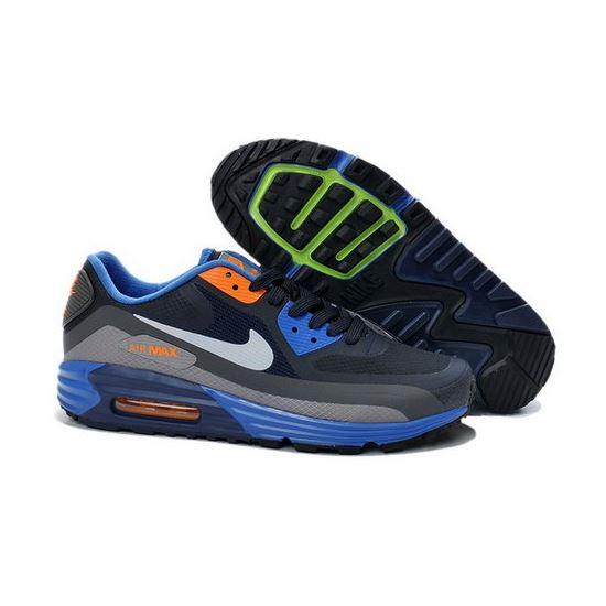 online retailer b8158 dc275 Nike Air Max Lunar 90 Waterproof Wr Mens Shoes Black Orange Blue New Hot  Ireland