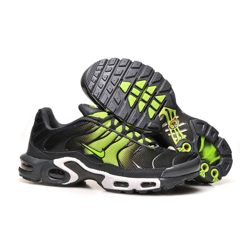 new concept 0c3ad d1bb4 Men s Nike Air Max TN Shoes Black Fluorescent Green