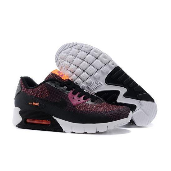 innovative design b5bbb 3557a Nike Air Max 90 Jacquard Mens Shoes Black Deep Purple New Poland