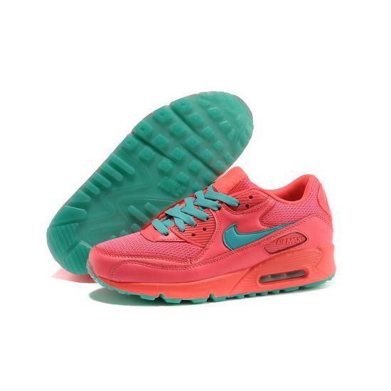 e8574bba9cbe2 Nike Air Max 90 Men Pink Blue Running Shoes Spain