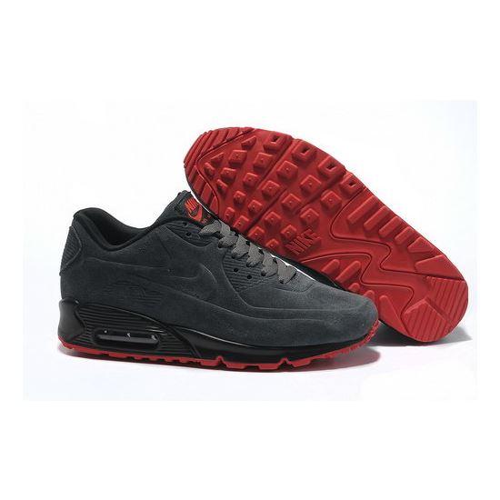 2f10a16873 Nike Air Max 90 Vt Men Gray Red Running Shoes Usa, Air Max 98, Nike ...
