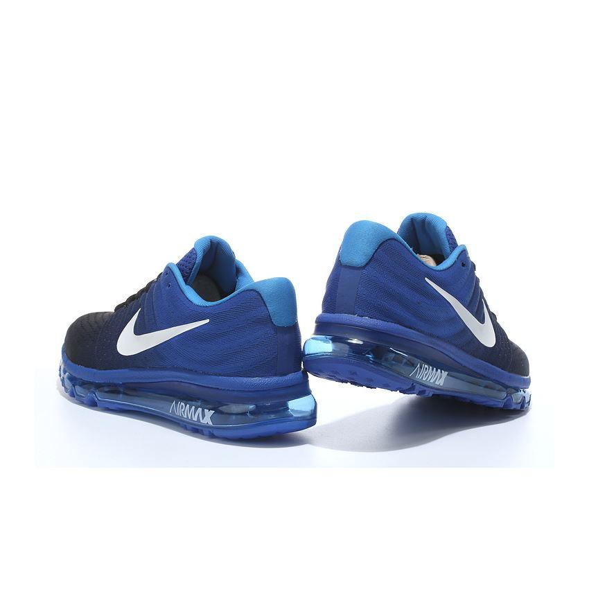 6d63a0b2b4 Nike Air Max 2017 Mens Running Shoes Black Dark Blue