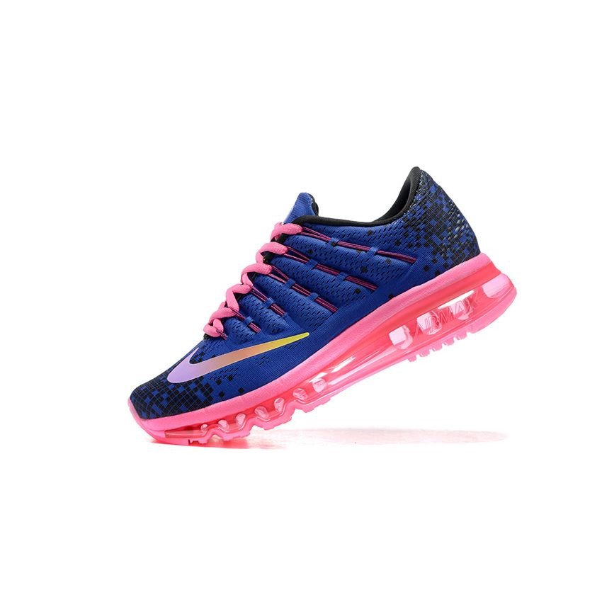 newest 7a3b2 0f665 Nike Air Max 2016 820332 500 Women s Deep Night Black Blue Fire Pink  Running Shoe