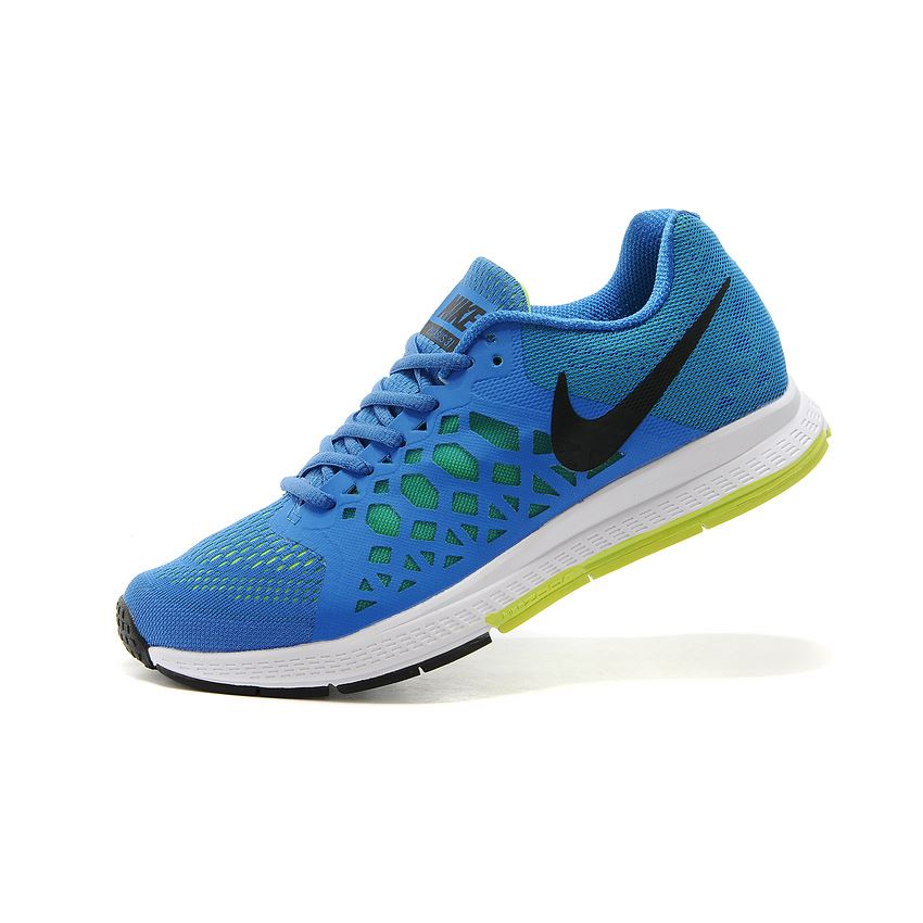 98095d1ac25a Men s Nike Air Zoom Pegasus 31 Running Shoes Blue Fluorescence Green White  652925-400