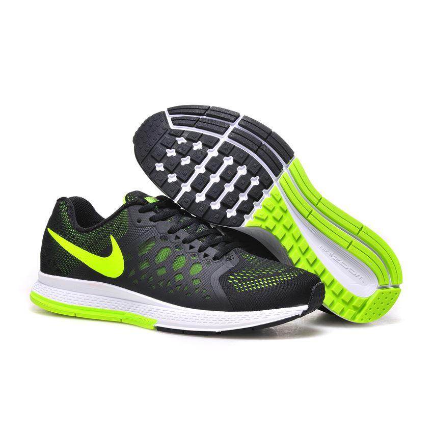 bc8a2f85f5fce Men s Nike Air Zoom Pegasus 31 Running Shoes Black Green 652925-007 ...