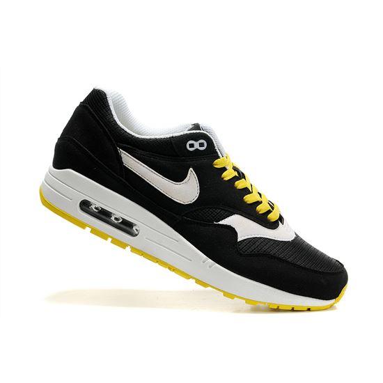 on sale ba3c2 d5028 Cheap Retail Men's Nike Air Max 1 Shoes Black White Yellow For Sale Online, Nike  Air Max 98 Gundam, Nike Air Max Women