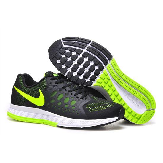 Men s Nike Air Zoom Pegasus 31 Running Shoes Black Green 652925-007 ... babcc17e9