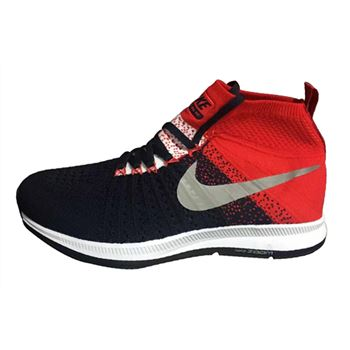Men's Nike Air Zoom Pegasus All Out Flyknit Running Shoes Dark Blue/Crimson/Grey
