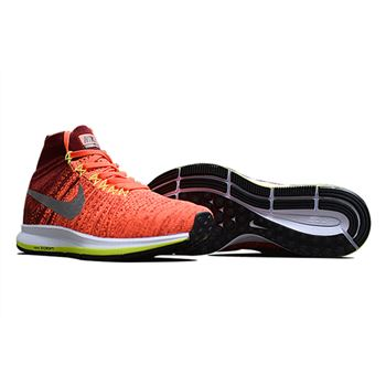 Men's Nike Air Zoom Pegasus All Out Flyknit Running Shoes Bright Crimson/Team Red/Volt/White