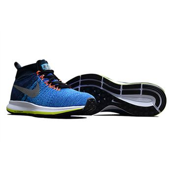 Men's Nike Air Zoom Pegasus All Out Flyknit Running Shoes Racer Blue/Obsidian/White