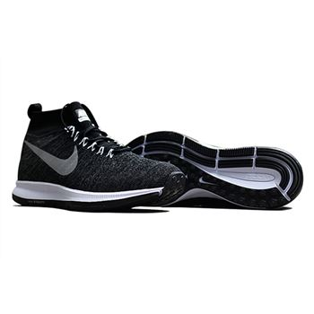 Men's Nike Air Zoom Pegasus All Out Flyknit Running Shoes Black/Dark Grey/Grey