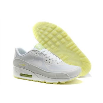 Nike Air Max 90 Prem Tape Unisex All White Running Shoes Cheap