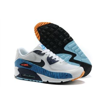 Nike Air Max 90 Prem Tape Unisex White Blue Running Shoes Best Price