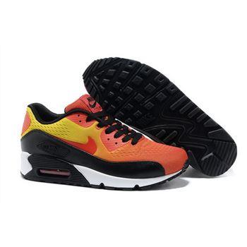 brand new ba53e d4c49 Nike Air Max 90 Premium Em Unisex Orange Black Running Shoes Outlet Online