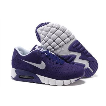 Air Max 90 Current Moire Women Purple White Running Shoes Low Price