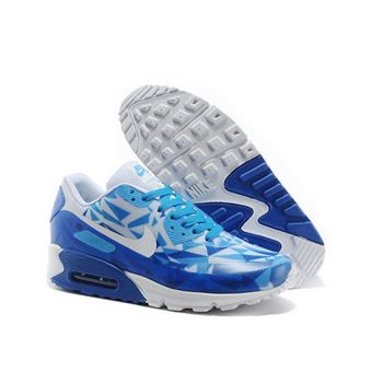Nike Air Max 90 Hyp Prm Unisex Blue White Jogging Shoes Australia