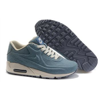 Nike Air Max 90 Hyp Prm Unisex Blue White Running Shoes Clearance