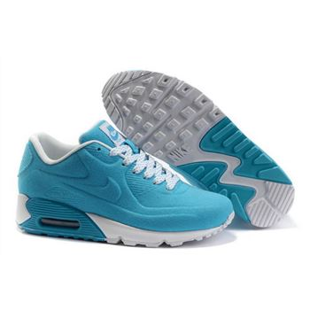 Nike Air Max 90 Hyp Prm Women Blue White Running Shoes Netherlands