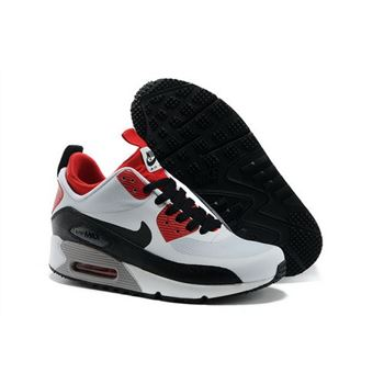 Nike Air Max 90 Sneakerboot Ns Women White Red Running Sports Shoes Factory Outlet
