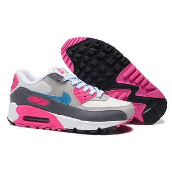 Air Max 90 Womens New Shoes Grey Pink Netherlands