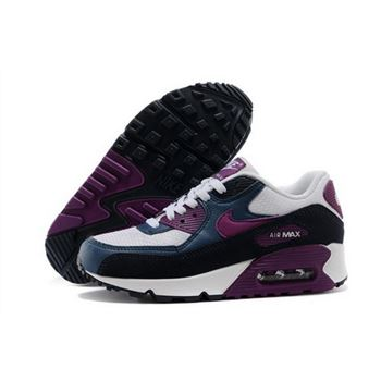 Air Max 90 Womens Shoes Blue White Purple Best Price