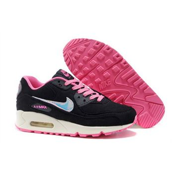 sports shoes d6e8e d12cb Nike Air Max 90 Womens Shoes 2015 New Releases Black Pink Sky Blue White  Factory Outlet