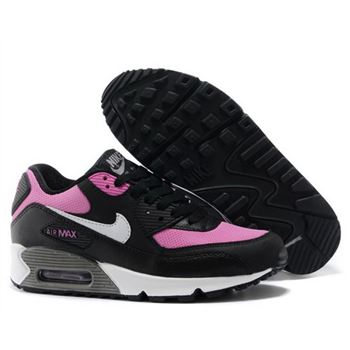 Nike Air Max 90 Womens Shoes 2015 New Releases Black Rose Red Inexpensive