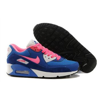 Nike Air Max 90 Womens Shoes 2015 New Releases Deep Blue Pink New Zealand