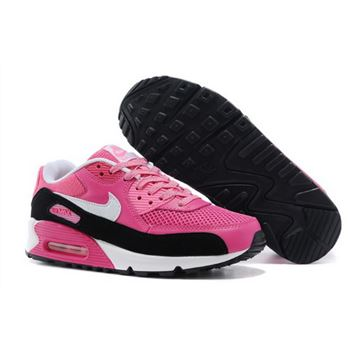 Nike Air Max 90 Womens Shoes Baby Pink Black White Hot Uk