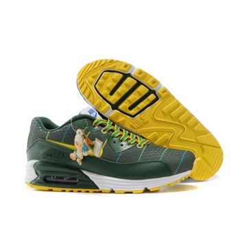 san francisco a457c 73af5 Nikeid Air Max 90 2014 World Cup National Team Womens Shoes Brazil Green  Yellow Discount