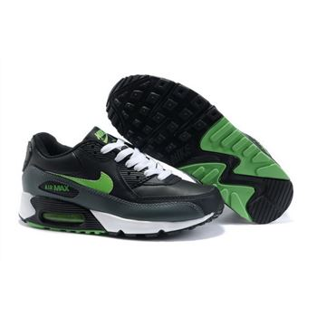 meet 25caf f06a3 Nike Air Max 90 Womens Shoes Wholesale Black Green Outlet Online