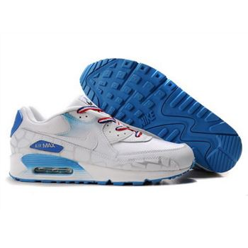 best service 40395 8229f Nike Air Max 90 Womens Shoes Wholesale Deepskyblue White Norway