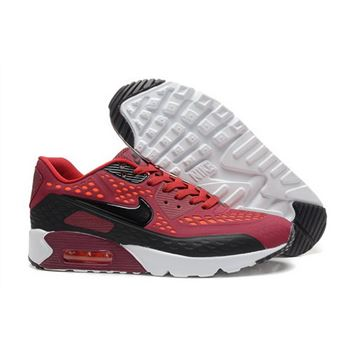 sale retailer 0134f 452c6 Nike Air Max 90 Hyp Prm Mens Shoes 2015 All Red Black White Hot Factory  Store