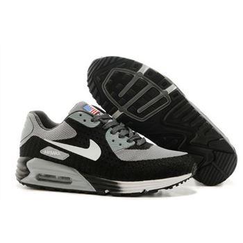 factory authentic 149c3 594a7 Nike Air Max 90 Hyp Prm Mens Shoes High Inside Black Gray White Hot Online  Shop