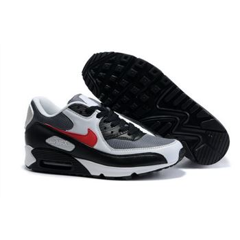 Mens Air Max 90 White Red Black Low Cost