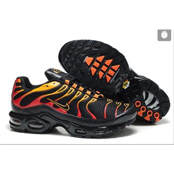 Men's Nike Air Max TN Shoes Black Red Yellow